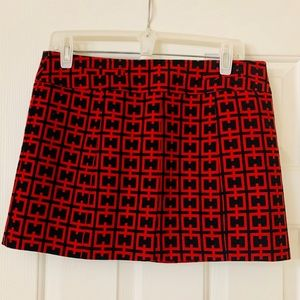 Bebe Red and Black Size 10 Skirt